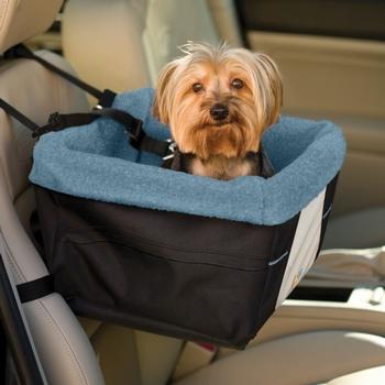 Kurgo Skybox Blue Collapsible Pet Booster Car Seat ...