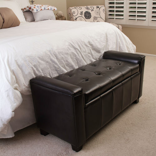 Alden Bonded Leather Storage Bench 187 Welcome To Costco