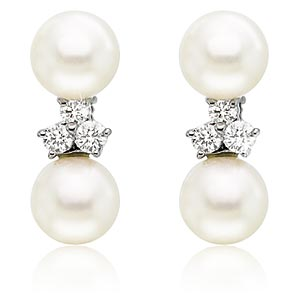 cultured pearl earrings 187 pearls 187 gallery