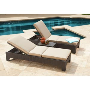 Newport 3 piece chaise lounge set by mission hills patio for Chaise lounge costco