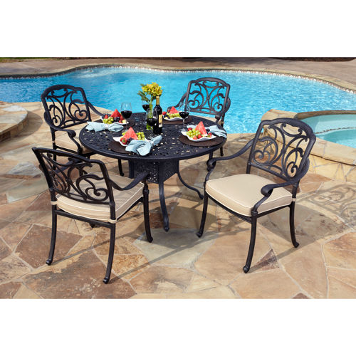 San paulo 5 piece patio dining set welcome to costco for Ensemble patio costco