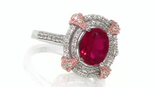 Oval Lab Created Ruby And White Sapphire Ring In Sterling Silver Shop Zales America S Diamond Store Since 1924 For The Best Jewelry Selection And Service